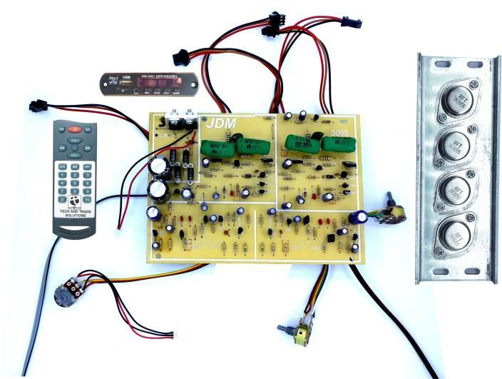 Tech And Trade 350 W Diy 2n3055 Transistor Based Audio Amplifier Car