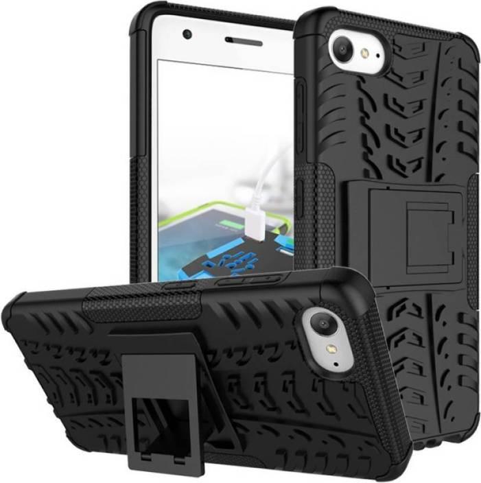 Ideal Back Cover for Lenovo ZUK Z2 Plus (Black) (Armour) (Kickstand) (Black, Shock Proof, Plastic)