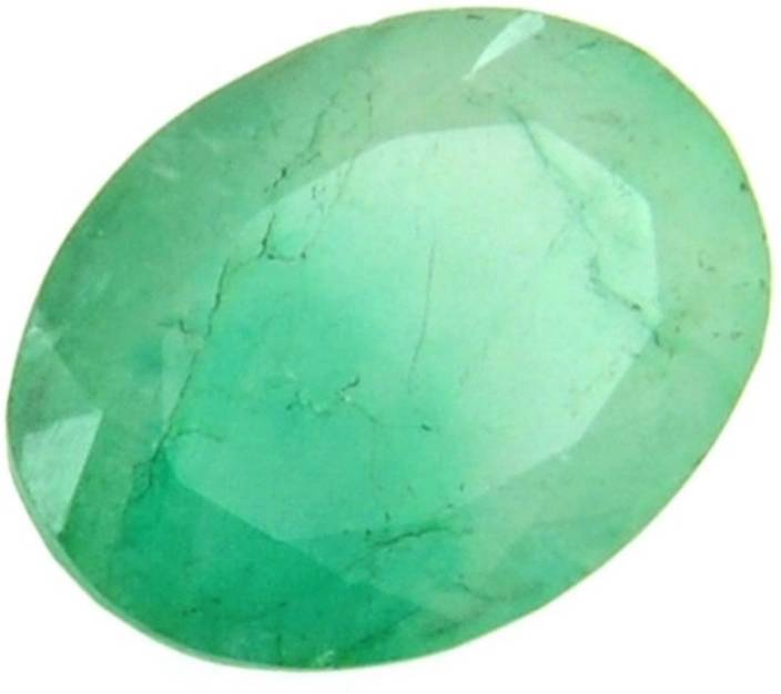 AJ AJ Retail 6 Ratti Emerald ( PANNA STONE ) 100 % ORIGINAL IGL CERTIFIED  NATURAL GEMSTONE Emerald Stone