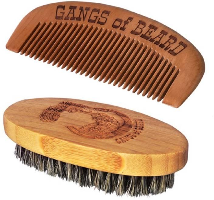 Gangs of Beard Boar Bristle Brush and Bamboo Comb