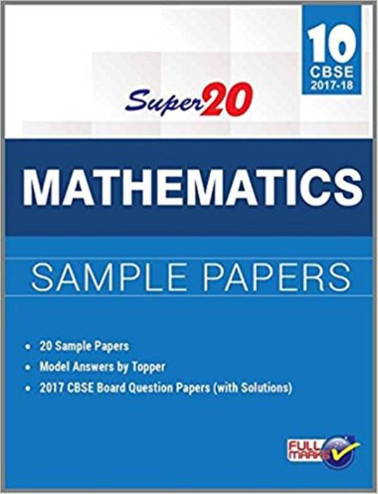 Super 20 Mathematics Sample Papers Class 10th