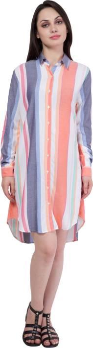 Hive91 Women's Shirt Multicolor Dress