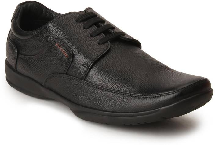 Red Chief Black Corporate Casuals For Men
