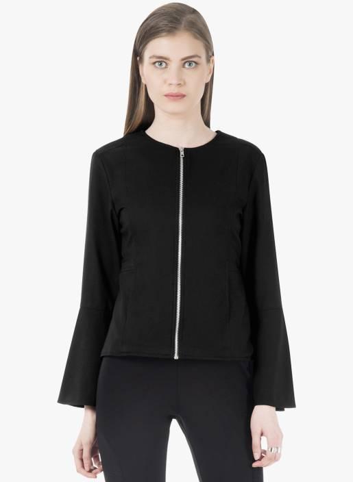 FabAlley Full Sleeve Solid Women Jacket