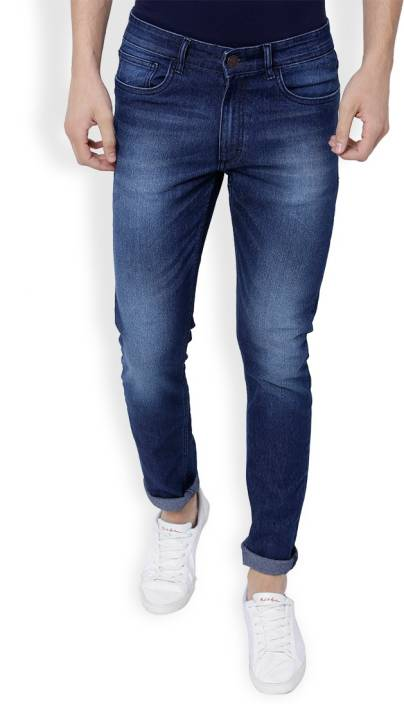 Highlander Slim Men Dark Blue Jeans