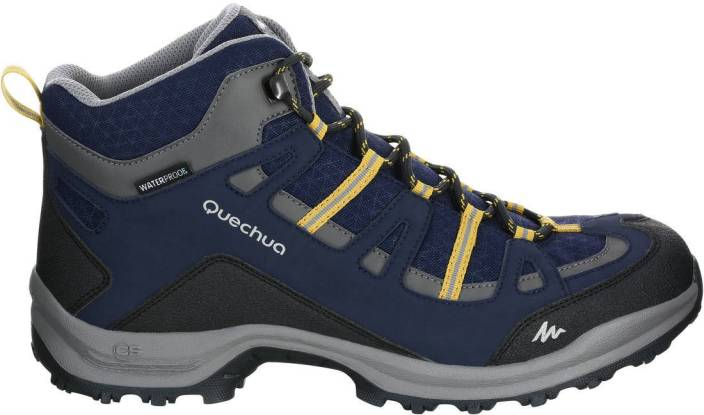 645beacbafcd Quechua by Decathlon Arpenaz 100 Mid Hiking   Trekking Shoes For Men (Blue)