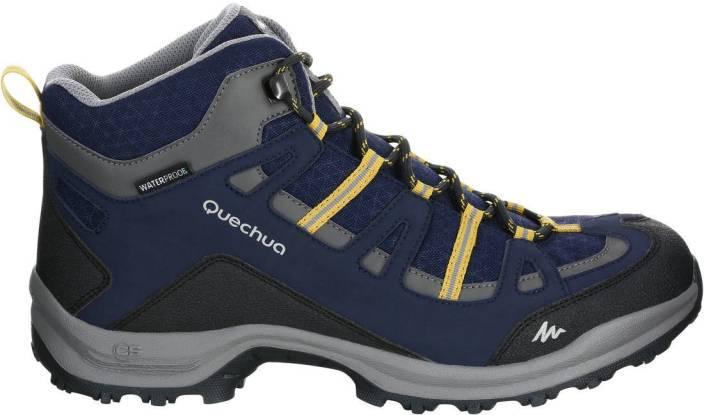 4bbaec8d0 Quechua by Decathlon Arpenaz 100 Mid Hiking   Trekking Shoes For Men (Blue)