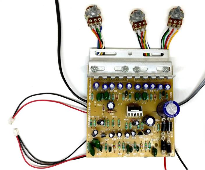 TECH AND TRADE 100W DIY STEREO AUDIO AMPLIFIER CIRCUIT KIT BOARD BASS TREBLE BALANCE 4440 IC (Multicolor)