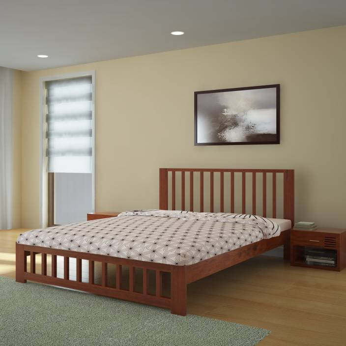 d3d5d60eedda Home Edge Georgia Acacia Solid Wood King Bed Price in India - Buy ...