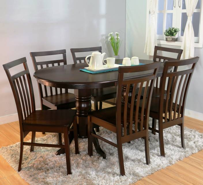 tuscan dark mahogany furniture bar furnculture tuscany solid wood 6 seater dining set price in india