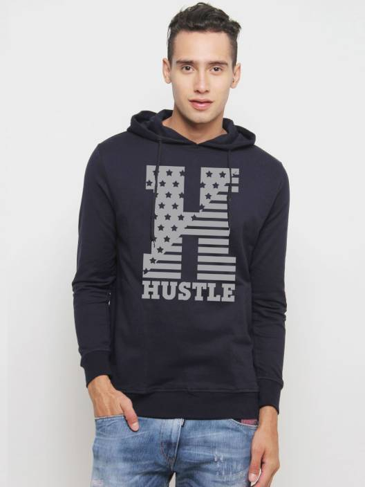 HUSTLE Full Sleeve Printed Men's Sweatshirt