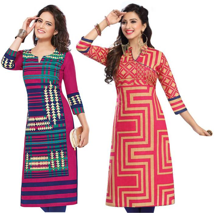 Giftsnfriends Cotton Printed Kurti Fabric