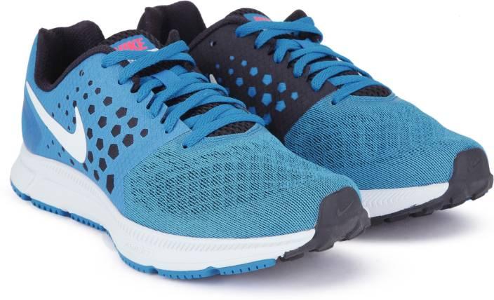 e142b8984abf Nike ZOOM SPAN Running Shoes For Men - Buy BLUE ORBIT WHITE-BLACK ...