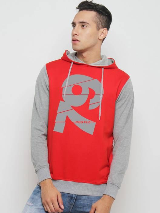 HUSTLE Full Sleeve Printed Men's Sweatshirt