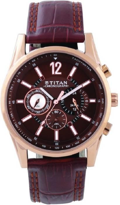 c1742852755 Titan Chrono Classique Brown Dial Chronograph Watch - For Men - Buy Titan  Chrono Classique Brown Dial Chronograph Watch - For Men Chrono Classique  Brown ...