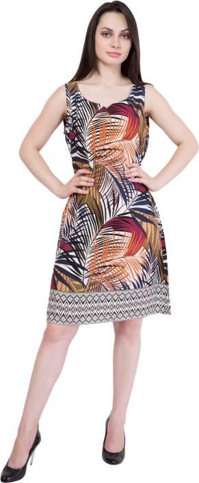 Hive91 Women A-line Multicolor Dress