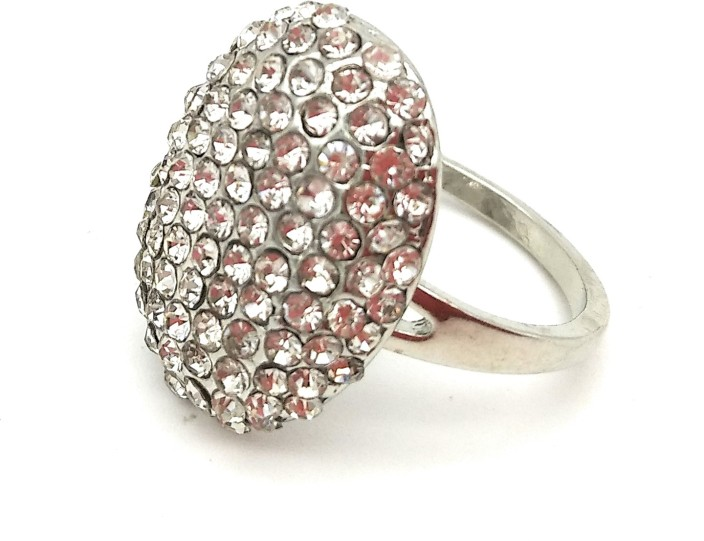 Gemmas Fashion Bellas Engagement Ring in Twilight Alloy Crystal