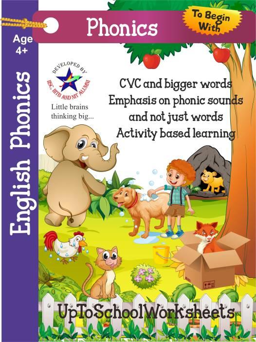 English Phonetics Worksheets for Kids : Three Letter Words (English, Paperback, UpToSchoolWorksheets)