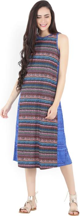 Global Desi Women's Sheath Multicolor Dress