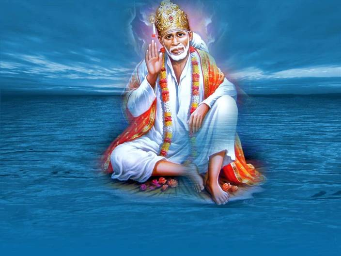 Sai Baba Hd Wallpaper On Large Print 36x24 Inches Photographic Paper