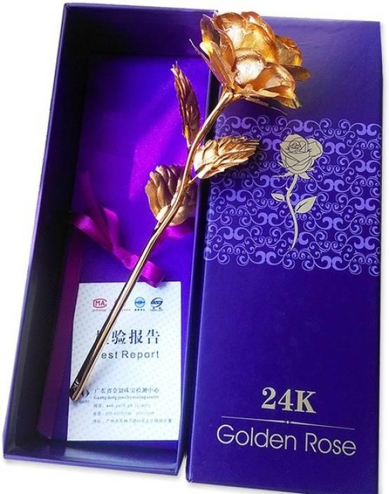 billion DEAL BD 24 K Golden Rose Artificial Flower Gift Set