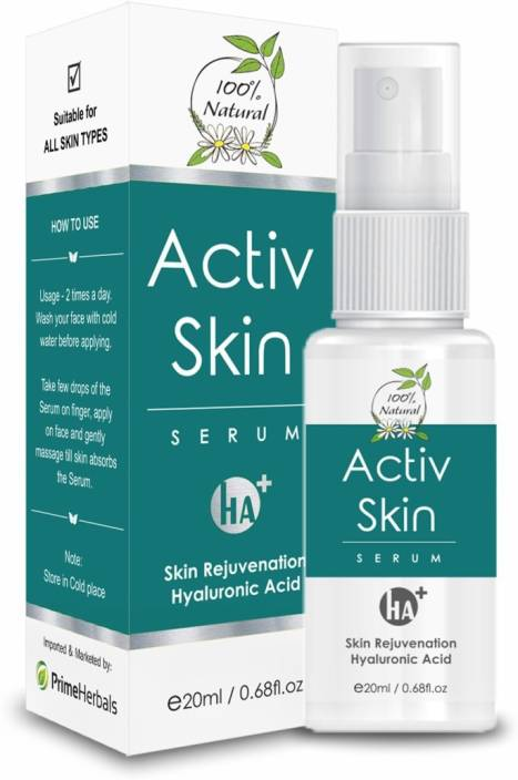 Prime Herbals Hyaluronic Acid Activ Skin Serum for Anti Aging, Acne Scar & Dark Spot removal by Prime Herbals