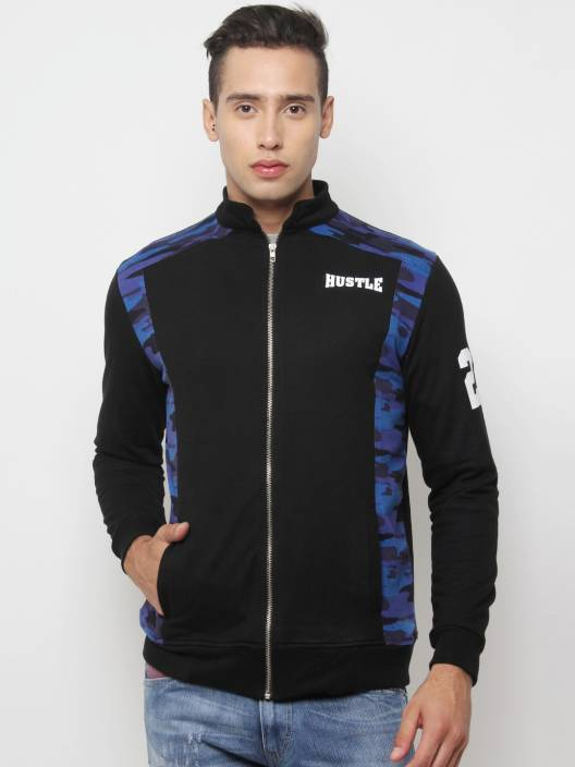HUSTLE Full Sleeve Printed Men Jacket