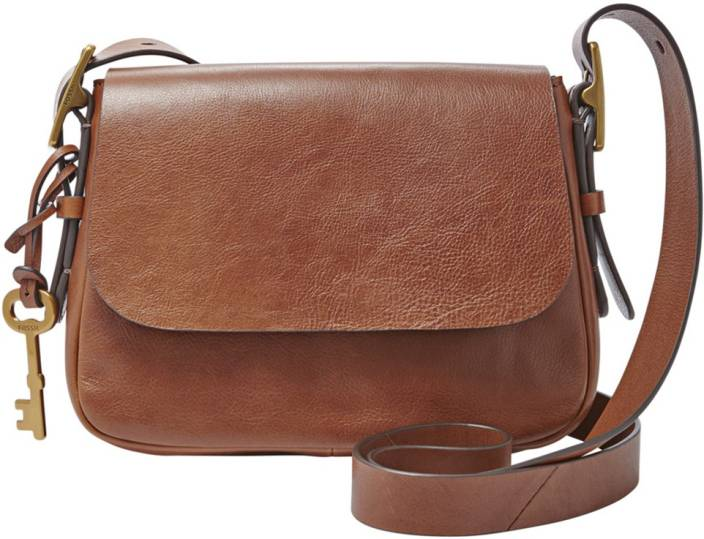 Fossil Women Casual Brown Genuine Leather Sling Bag Brown - Price in India   fc227b18dfcfd