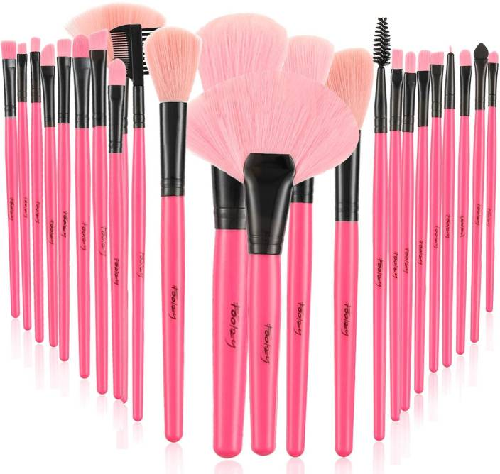 Foolzy 24 Professional Makeup Brush Set with Travel Case (Pack of 24)