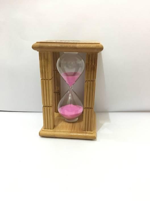 B2y Sand Timer Hour Glass 8 Minutes Pure Shesham Wood Purple