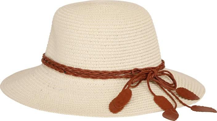 25dfbafd7cabc7 FabSeasons Half White/Cream Sun/Beach Hat for Women Cap - Buy ...