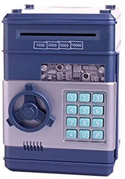 Ainypiggy Bank Code Electronic Money Piggy Banks Coin Saving Atm Safty
