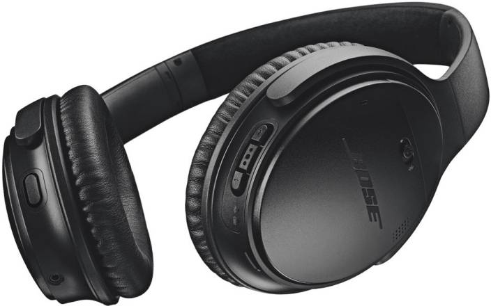 ebf75bb0422 Bose Quietcomfort 35 II Bluetooth Headset with Mic (Black, Over the Ear)