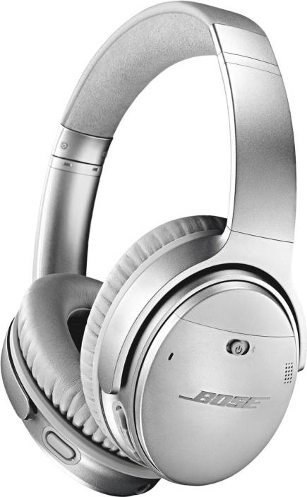 40032f07b19 Bose Quietcomfort 35 II Bluetooth Headset with Mic (Silver, Over the Ear)