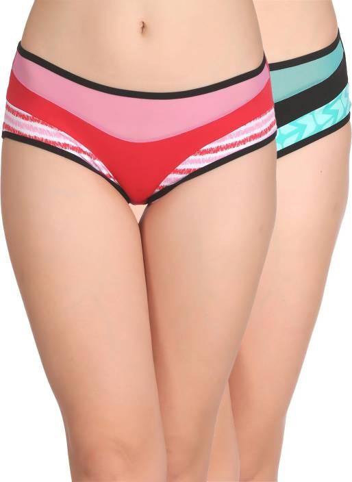 Clovia Women's Hipster Multicolor Panty