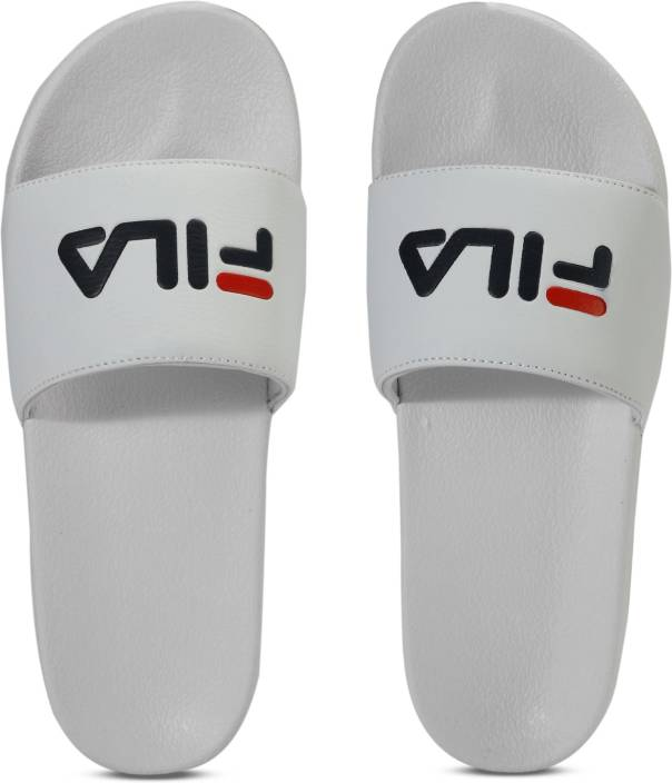 94b647088 Fila FL SLIDE Slippers - Buy WHT Color Fila FL SLIDE Slippers Online at  Best Price - Shop Online for Footwears in India