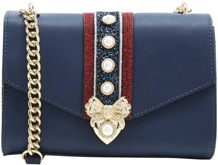 bf0993e6107 Buy ALDO Sling Bag Navy Blue Online   Best Price in India