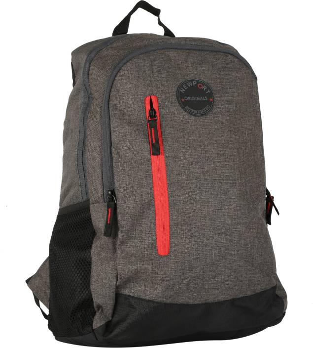 84f9d3c8ede Newport Classic 20 L Backpack Charcoal, Grey, Red - Price in India ...