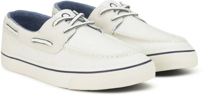 c682543860 United Colors of Benetton Boat Shoes For Men - Buy White Color ...