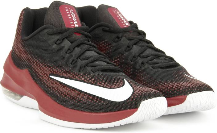 more photos 13511 979d2 Nike AIR MAX INFURIATE LOW Basketball Shoes For Men (Black, Maroon)