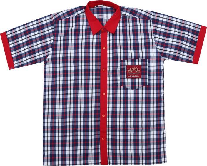b69ab9d27aa05 Kendriya Vidyalaya Red, White Uniform Shirt (Ahemdabad, Baroda, Bengaluru,  Bhopal, Bhubaneswar, Chandigarh, Chennai, Cochin, Dehradun, Hyderabad,  Jaipur, ...