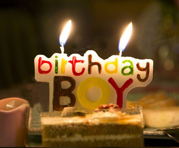 Indigo Creatives Additonal Special Birthday Boy Logo Cake Candle Multicolor Pack Of 1