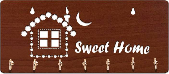 Sehaz Artworks SweetHome-Brown Wooden Key Holder