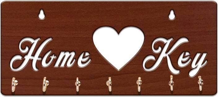 Sehaz Artworks HomeKey-Brown Wooden Key Holder