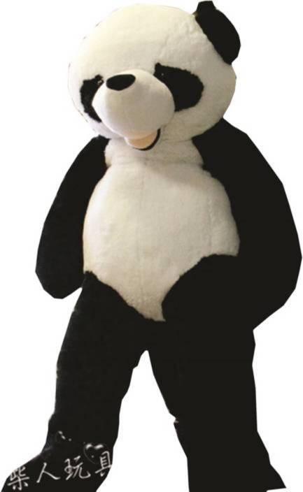 Avs 5 Feet Stuffed Spongy Hugable Cute Smile Panda Teddy Bear Black
