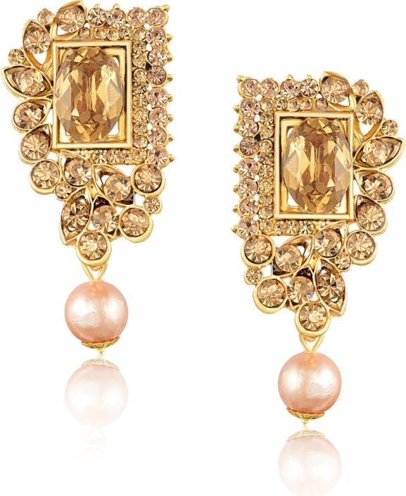 7e949d6482 Meenaz Meenaz Fashion Jewellery Traditional Gold plated Pearl Earrings for women  party wear stylish design Wedding