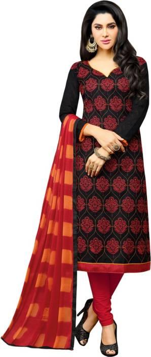 Ratnavati Jacquard Embroidered Salwar Suit Dupatta Material  (Un-stitched)