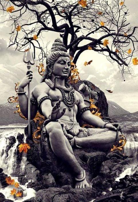 medium bhole nath shiv shankar digital print wallpaper poster original imaezykphps24hew