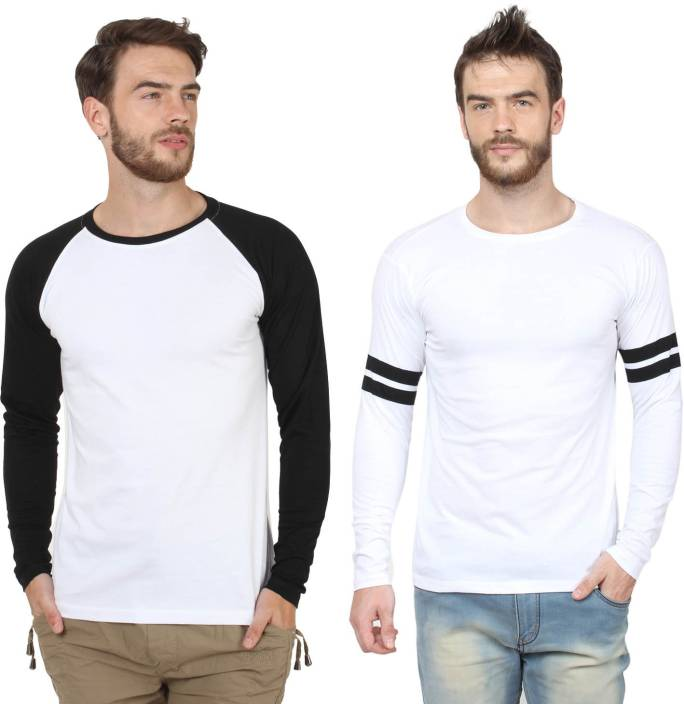 SayItLoud Printed Men's Round Neck White, Black, White, Black T-Shirt