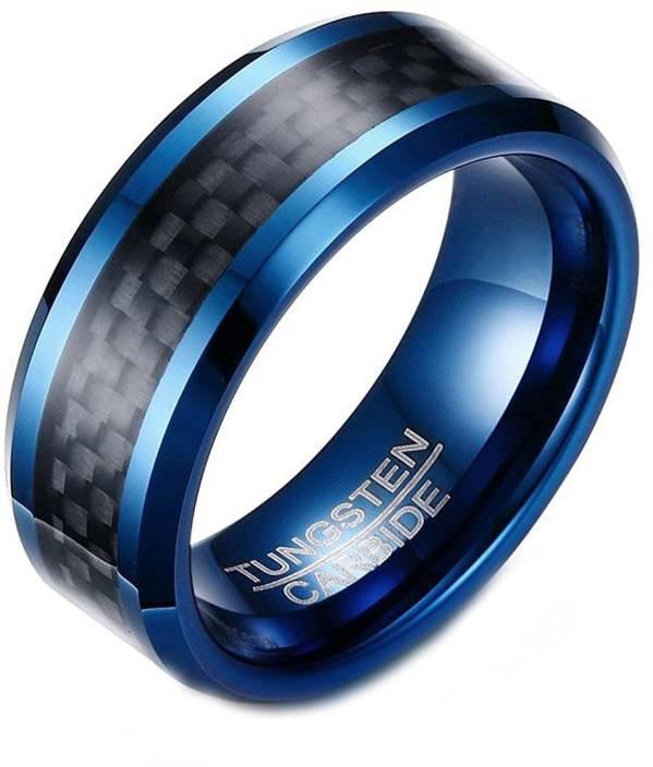 Mens Tungsten Wedding Bands.Asma Jewel House 8mm Tungsten Carbide Wedding Band Ip Blue Plated